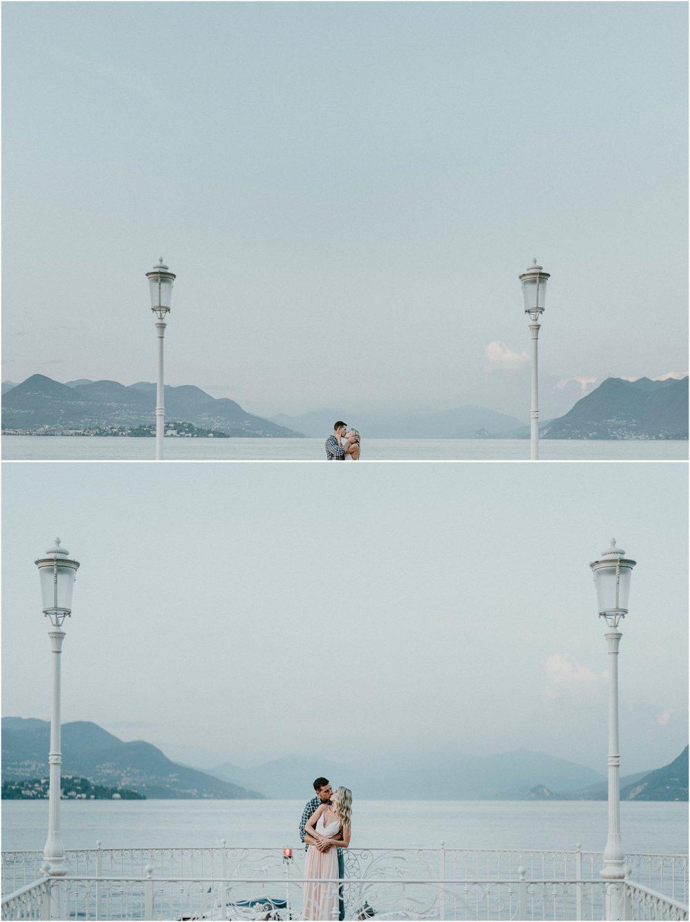 Sessione di ritratti di coppia con vista sul Lago Maggiore da Stresa