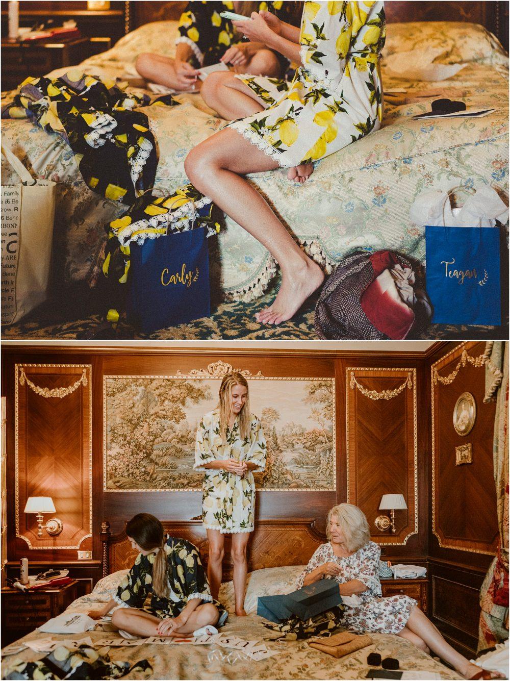 Matrimonio sul Lago Maggiore, sposa e damigelle si preparano al Grand Hotel Des Iles Borromees a Stresa