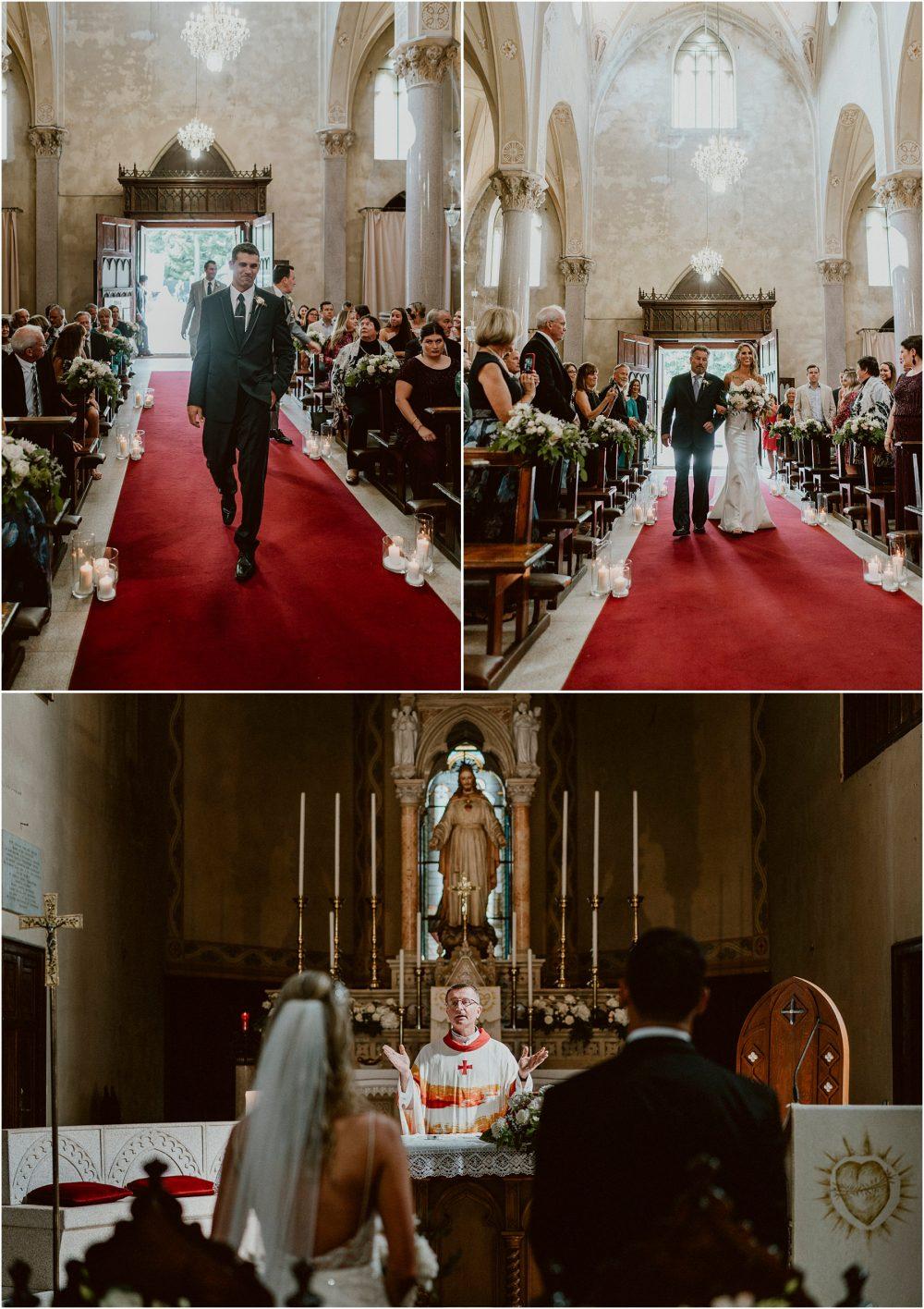 Chiesa parrocchiale dei SS. Giuseppe e Biagio entrata degli sposi, matrimonio Lago Maggiore Stresa