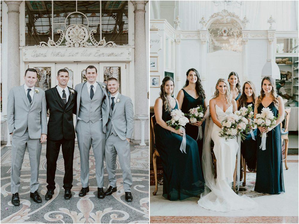 Ritratti dei testimoni con gli sposi al Grand Hotel Des Iles Borromees, matrimonio Lago Maggiore Stresa