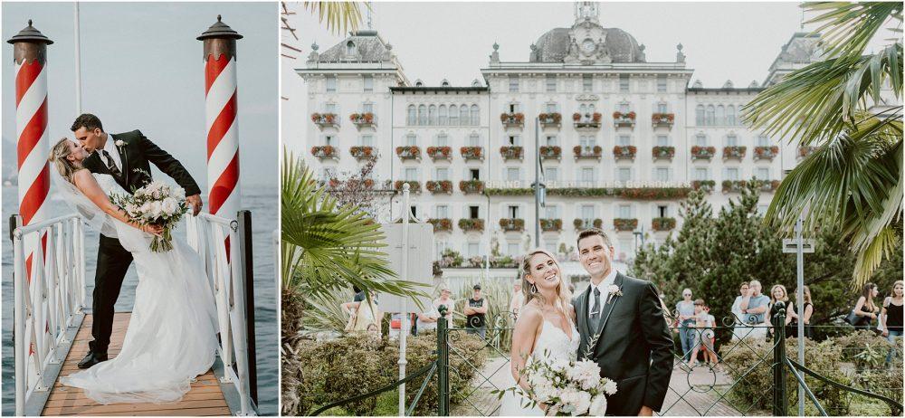 Ritratti degli sposi al Grand Hotel Des Iles Borromees, matrimonio Lago Maggiore