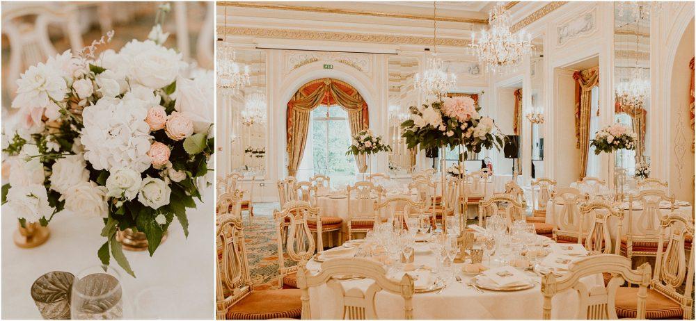 Grand Hotel Des Iles Borromees, matrimonio Lago Maggiore Stresa dettagli dei tavoli e della sala del ricevimento