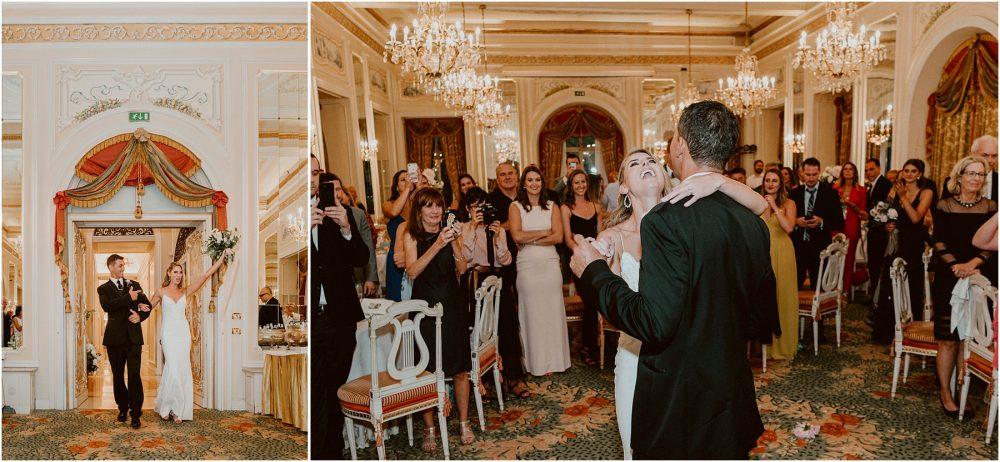 Grand Hotel Des Iles Borromees, matrimonio Lago Maggiore Stresa entrata degli sposi e primo ballo