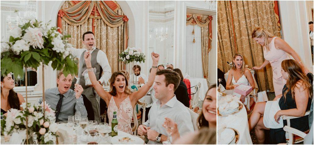 Grand Hotel Des Iles Borromees, matrimonio Lago Maggiore Stresa Ricevimento e amici festeggiano