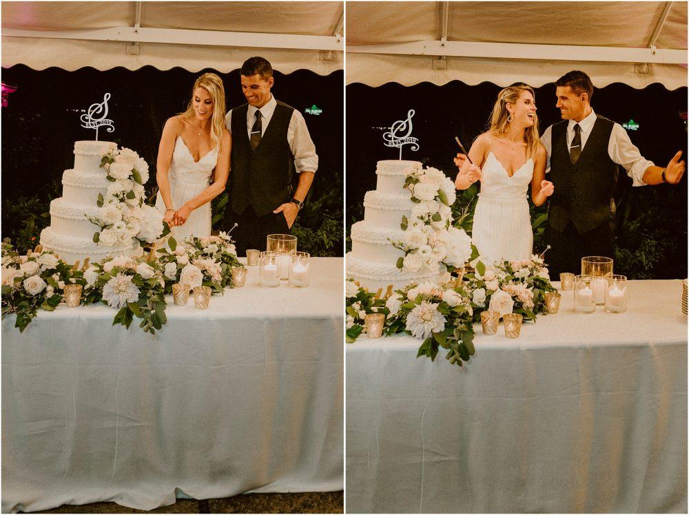 Grand Hotel Des Iles Borromees, matrimonio Lago Maggiore Stresa gli sposi tagliano la torta